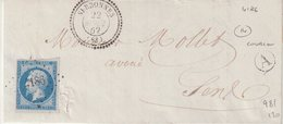 "FRANCE : PC 4186 . "" SERBONNES "" . (83) . N° 14 . AB . 1862 . - Storia Postale"