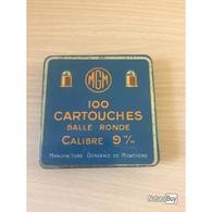 Boite Incomplete De Bosquettes 9 M/m Pour Collection - Militaria