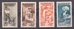 Sarre - 1926 - N° 103 à 106 - Neufs * - Oeuvres Populaires - 1920-35 Société Des Nations