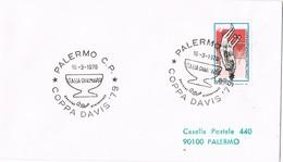 32674. Carta PALERMO (Italia) 1979. Copa DAVIS, Tennis, Tenis Italia - Dinamarca - 6. 1946-.. República