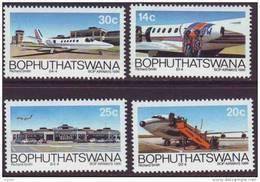 D90819 Bophuthatswana South Africa 1986 PLANES AIRPORT MNH Set - Afrique Du Sud Afrika RSA Sudafrika - Bophuthatswana