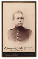 Fotografie Anna Feilner, Oldenburg I. G., Portrait Blonder Interessanter Soldat In Eleganter Uniform - Anonyme Personen