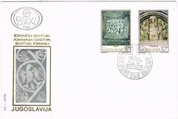 32675. Carta F.D.C. BEOGRAD (Jugoslavia) 1975. Escultura Romanica. Romanicka Skulptura - FDC