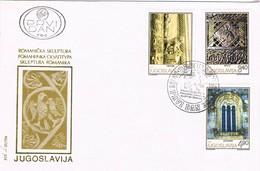 32676. Carta F.D.C. BEOGRAD (Jugoslavia) 1975. Escultura Romanica. Romanicka Skulptura - FDC