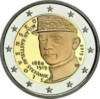 Slovakije 2019 2 Euro Comm. Milan Rastislav Stefanik  UNC Uit De Rol - Du Rouleaux !! - Slowakei
