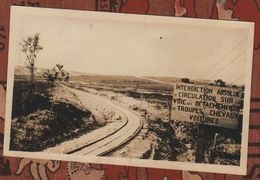 Photo Guerre 1914 1918 Voie Pichot(?) Index Main De Massiges Marne - 1914-18