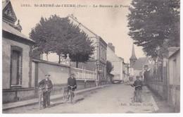 27 Eure -  SAINT-ANDRE-de-L'EURE - Le Bureau De Poste - Cyclistes - France