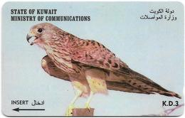 Kuwait - Kestrel Bird - 39KWTM, 1997, Used - Kuwait