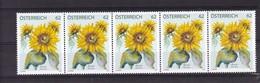 Austria Österreich 3049 **/mnh, Sonnenblume (Helianthus Sp.)** - 1945-.... 2. Republik