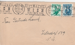 Autriche Lettre Wien 1952 - 1945-.... 2a Repubblica