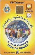 Kuwait - KP Telecom - Free Of Drugs, ODS, 1998, Used - Kuwait