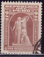 """Peru, 1938, Postal Tax, """"Protection"""" By John Ward, 2c, Scott# RA29, Used - Peru"""