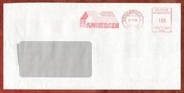 Brief, Francotyp-Postalia F90-8298, Hammersen, 100 Pfg, Osnabrueck 1991 (73524) - Machine Stamps (ATM)