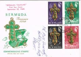 32679. Carta  F.D.C. HAMILTON (Bermuda) 1969. Treasure 1594 From The Sea - Bermudas