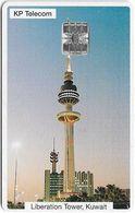 Kuwait - KP Telecom - Liberation Tower (White Frame), SC7, 1996, Used - Kuwait