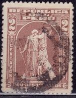 "Peru, 1962, Postal Tax, 1938 Type, ""Protection"" By John Ward, 2c, Scott# RA40, Used - Peru"
