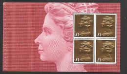 Pane Ex 2017 PSB 50th Machin Anniversary - 4 GOLD £1 Machins - See Notes/scan - 1952-.... (Elisabetta II)