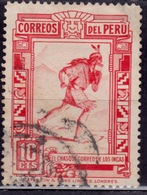 Peru, 1936, Inca Courier, 10c, Scott# 360, Used - Peru