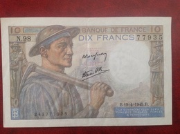 France Billet 10 Dix Francs Mineur - 1871-1952 Anciens Francs Circulés Au XXème