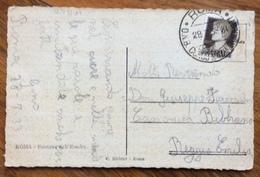 FASCISMO ROMA  O.N.B.  CORSO NAZIONALE GRADUATI 29/7/33 CARTOLINA PER  REGGIO EMILIA - Storia