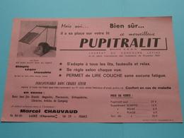 PUPITRALIT - SCRIPTO Permet Aussi D'écrire Couché > Marcel Chauvaud Luxé Charente France ( Zie / Voir Photo ) ! - Publicidad