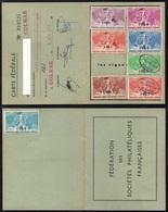 ERINNOPHILIE - COLMAR - ALSACE / 1960-1968 VIGNETTES FEDERALES SUR CARTE  (ref 5398) - Otros