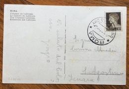 FASCISMO ROMA  O.N.B.  CAMPO DUX 9/8/36 - XIV  CARTOLINA PER  S.AGOSTINO FERRARA - Storia