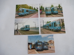 ROUEN (29)  METROBUS Motrice TFS (Tramway Français Standard) Remplacées En 2012 - Lot De 5 CPM - Strassenbahnen