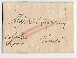 17428  COSTANTINOPLE TO VENEZIA 1742 - WITH  ITALIAN TEXT - Turquie