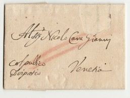 17428  COSTANTINOPLE TO VENEZIA 1742 - WITH  ITALIAN TEXT - Turchia