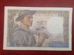 France Billet 10 Dix Francs Mineur - 1871-1952 Circulated During XXth