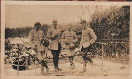 Photo Guerre 1914 1918  Groupe Officiers Artillerie Main De Massiges Marne - 1914-18