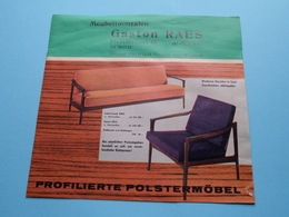 PROFILIA Profilierte Polstermöbel > Meubeltoonzalen GASTON RAES > St. NIKLAAS( Zie / Voir Photo ) Folder ! - Publicités