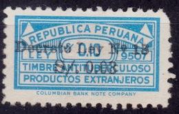 Peru, 1949, Postal Tax, Surcharge 3c On 10c, Sc#RA32, MLH - Peru