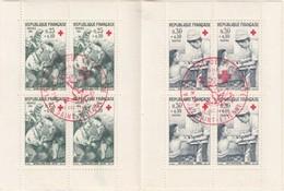 CARNET CROIX ROUGE 1966 OBLITERE SAINT ETIENNE 10.12.1966 -  AMBULANCIERE INFIRMIERE   / 1 - Rode Kruis