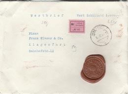 ÖSTERREICH WERTBRIEF 193? - 2x4 + 10 Gro Auf Brief Mit 6 Rote Siegel, Gel.v. Innsbruck > Klagenfürt - Errores & Curiosidades