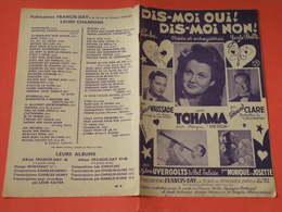 Dis Moi ! Oui Dis Moi Non ! (Tohama)-(Paroles Henry Lemarchand) (Musique Ludo Langlois) Partition 1948 - Song Books