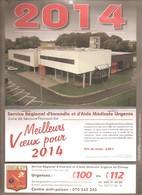 CHIMAY - POMPIERS - Calendrier 2014 - Service Régional D'Incendie Et D'Aide Médicale Urgente - Calendars