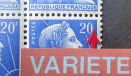 R1949/718 - 1957 - MARIANNE DE MULLER - N°1011B BLOC NEUF** - VARIETE ➤➤➤ 20 Sans F (timbre Inf. Droit) - Variétés Et Curiosités