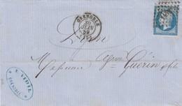 FRANCE - LETTRE CLASSIQUE GRENOBLE 30 JUIN 59 POUR LYON - E. VIDIL  / 2 - Postmark Collection (Covers)
