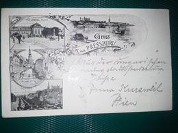 Magyar Kir.posta 1898   Levelezo-Lap.  GRUSS Aus PRESSBURG - Hongrie