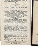 DI/O/ ° WIEZE 1834 + 1915  PETRUS VAN DAMME  SCHEPEN TE WIEZE   Met Foto - Religion & Esotérisme