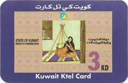 Kuwait - Ministry Of Comm. - KTEL Card - Lady, Remote Mem. 3KD, Used - Kuwait
