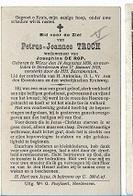 DI/O/ °  WIEZE 1839 + HERDERSEM 1918 PETRUS TROCH   Met Foto - Religion & Esotérisme