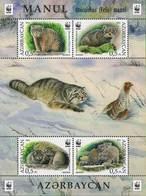 Azerbajan (Azerbaijan, Azerbaïdjan) 2016. Manul. Cats Of Prey. Mi.# Block171A (1175-1178A)  MNH - Azerbaïjan