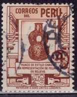 Peru 1938, Chavin Pottery, 4c, Sc#376, Used - Peru