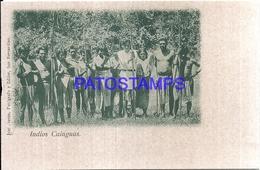 111973 PARAGUAY COSTUMES NATIVE INDIOS CAINGUAS POSTAL POSTCARD - Paraguay