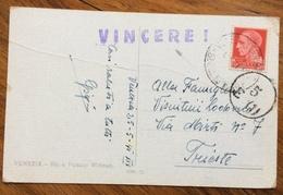 FASCISMO  VINCERE ! VINCERE E VINCEREMO Su Due Cartoline Del 1941 - Storia