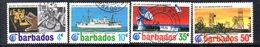 CI889a - BARBADOS 1972, Serie Yvert N. 345/348  Usata  (2380A) . - Barbados (1966-...)