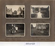 7 Photos Anciennes -  CRASVILLE (76)  Le Chateau - Le Pigeonnier - La Cour D'honneur Et L'écurie Voutée - 1925 - Lieux